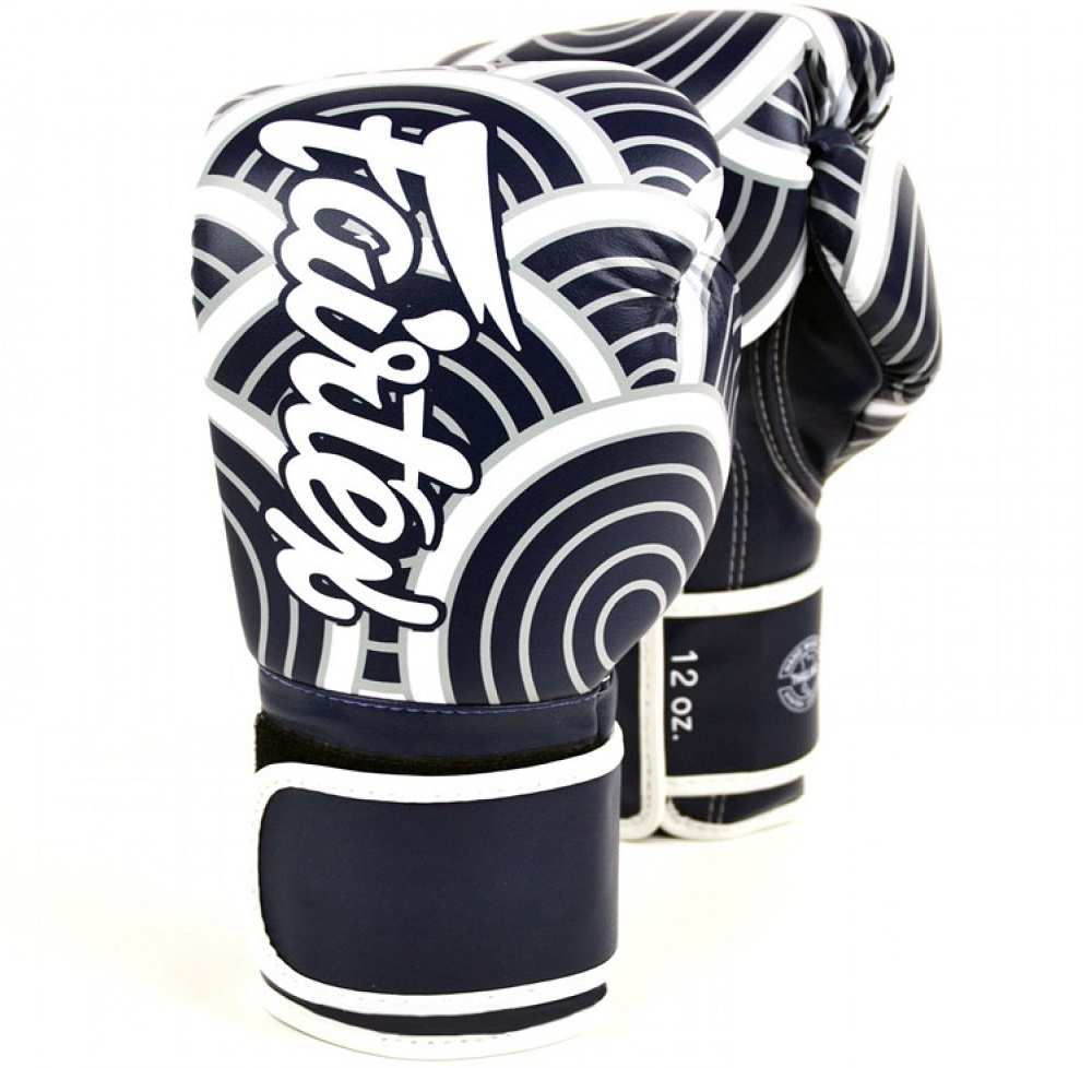 Перчатки для бокса Fairtex Japanese Art BGV14 Blue/White