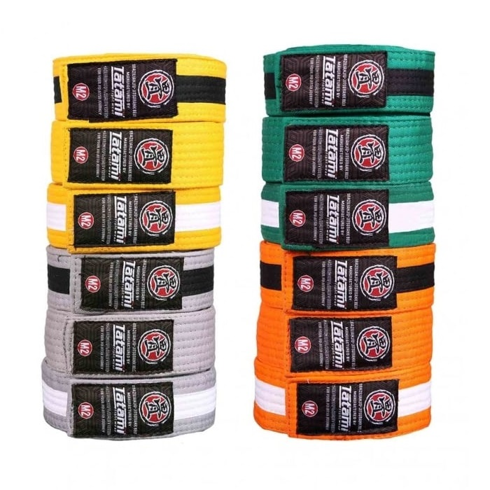 Пояс детский Tatami IBJJF Kids Rank Belts Yellow/Black