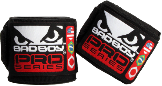 Бинты Bad Boy Hand Wraps 3.5 м Stretch - Black