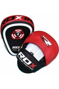 Лапы RDX T1 Leather Curved Boxing Focus Pads Red 1 пара